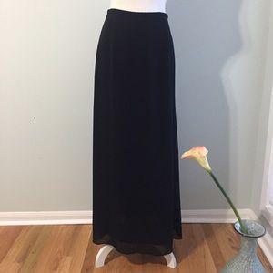 Banana Republic Black Chiffon Maxi Skirt